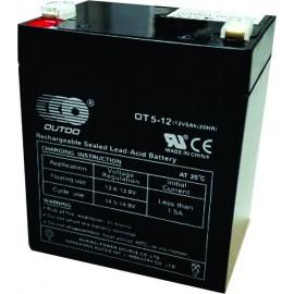 Batería de 12 voltios 5 amper/hora