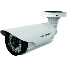 Cámara tipo bullet con tecnologias CVBS y AHD, lente varifocal de 6 a 22 mm
