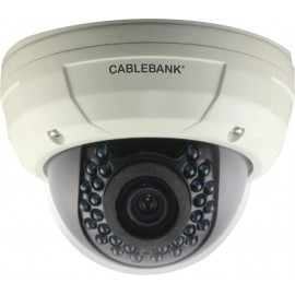Cámara tipo domo con tecnologias CVBS y AHD, lente varifocal de 2.8 a 12 mm