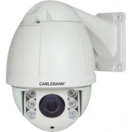 Cámara IP Megapixel tipo domo con lente 10X de 5 a 50 mm.