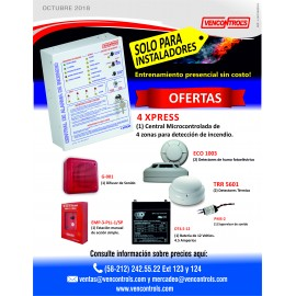 Oferta Kit de  Central de 4 zonas