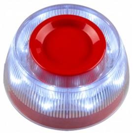 H3 Sirena autocontenida con luz estroboscópica para lazo inteligente